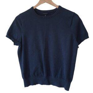 Short Sleeve Pullover Knit Crewneck Sweater Tee